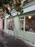 Devis peinture façade boutique Paris